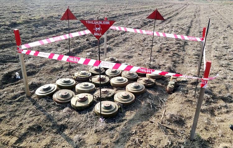 Azad edilən ərazilərdə 16000-dən çox mina və PHS aşkarlanıb